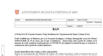 Ban sobre la gestió dels residus